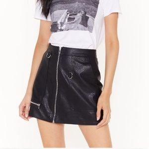 Faux Leather Skirt by Nasty Gal